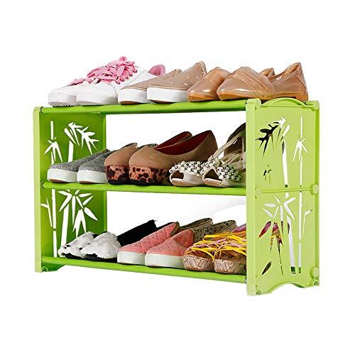LJHA Étagère à chaussures simple moderne maison économie chaussures étagère dortoir pantoufles petites chaussures simple chaussure antipoussière rack multicouche chaussure armoire 60 * 19 * 35 cm Meub