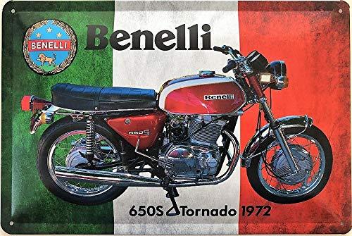 Deko7 Blechschild 30 x 20 cm Motorrad Benelli 650 S Tornado 1972