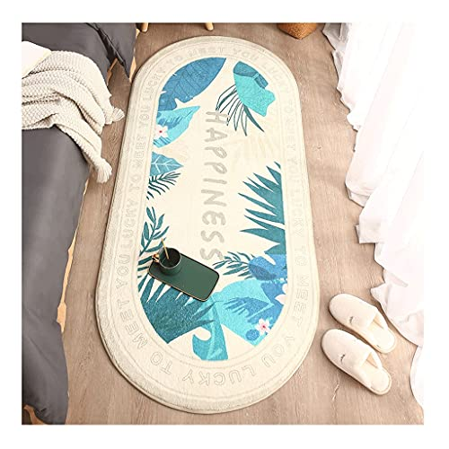 KTNG Blando Alfombras Junto A La Cama, Alfombra Regional 2.6'x5.2 ', Nórdica Pequeña Manta De Cama Fresca Blanca, Interior Adecuado, Sala De Estar, Dormitorio (Color : Style4, tamaño : 2.6'x5.9')