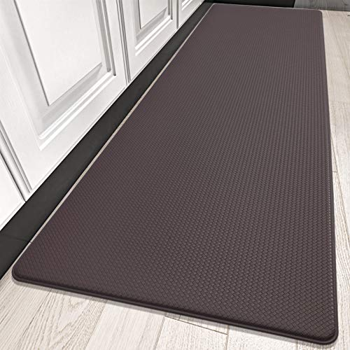 DEXI Kitchen Rug Cushioned Anti Fatigue Kitchen Mats, 2/5Inch Thick Waterproof Non Skid Memory Foam Standing Mat, 17x70, Rosy Brown