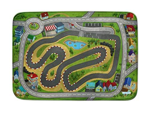 Spielteppich Ultrasoft - Rutschfest 100 x 150 cm (Speedway Racing City)