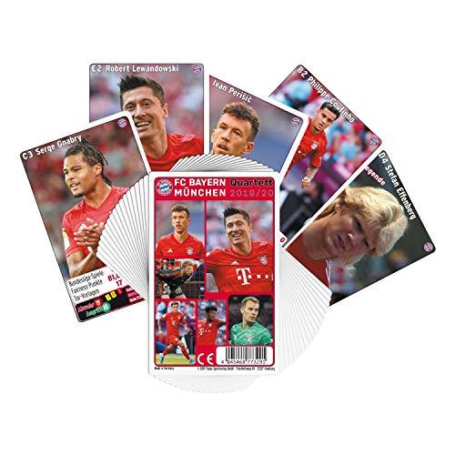 Bayern München Quartett 2019/20 Kartenspiel FCB - Plus Lesezeichen I Love München