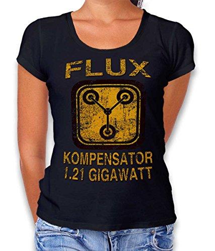 Flux Kompensator Zurueck In Die Zukunft Damen T-Shirt schwarz M