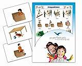 Yo-Yee Flashcards Tarjetas con Ilustraciones para el fomento del Aprendizaje del Idioma - Preposiciones - para Las Clases de inglés en guarderías, escuelas Infantiles y educación Primaria
