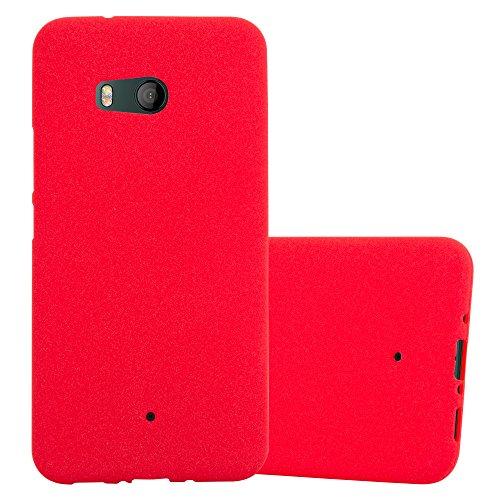 Cadorabo Custodia per HTC OCEAN / U11 in FROST ROSSO - Morbida Cover Protettiva Sottile di Silicone TPU con Bordo Protezione - Ultra Slim Case Antiurto Gel Back Bumper Guscio
