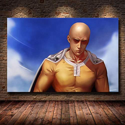 Zhengnengliang Clásico Anime Pantalla de película Serie de televisión One Punch Man Impresión en HD Pintura en Lienzo Póster Sala de Estar Decoración de la Sala Pintura 50x70cm in J-1838