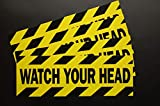 Watch Your Head Sticker Vinyl Decal (4 Pack) 8' X 2.75' Caution Indoor Outdoor Waterproof (X4PS48)