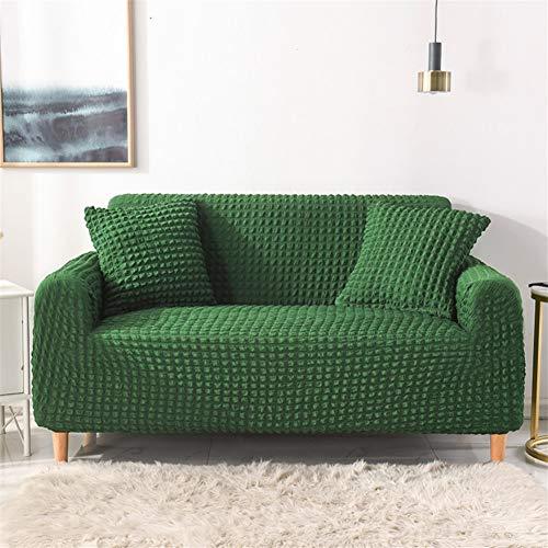 wjwzl Sofabezug, Hochstuhl, rutschfest, elastisch, Sofabezug für Schlafzimmer, Wohnzimmer, Grün, 1 W, (2 Sitze)+(2 Sitze)