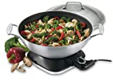 Cuisinart WOK-730 7-2/7-Quart Electric Wok, Stainless Steel