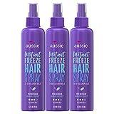Aussie Hairspray, with Jojoba & Sea Kelp, Instant Freeze, Extreme Hold, 8.5 fl oz, Triple Pack