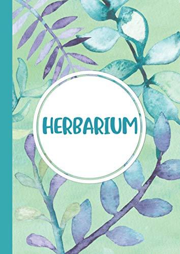 Herbarium: Großes Herbarium mit vorgefertigten Etiketten zur Pflanzenbestimmung   ausreichend Platz für getrocknete Blüten und Blätter   Großzügiges Format zur Pflanzenaufbewahrung