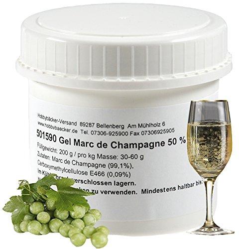 """Hobbybäcker Gel """"Marc de Champagne"""" ► Zur Verfeinerung von Pralinen, Eis, Desserts & Tortencremes, 50% Alkoholgehalt, 200g"""
