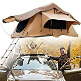 SUNWEII Truck Bed Tent 8ft Pickup Truck Tent for Full Size Truck Sunroof Tent with Rainfly, Ladder and Storage Bag Portable Rooftop Tent,Screen Double Doors Sun-Shading, Transparent Window