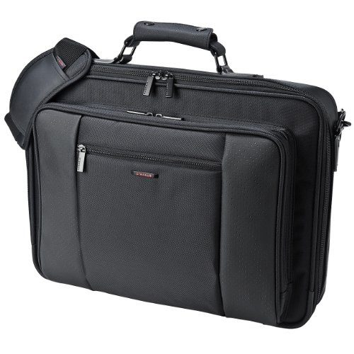 サンワサプライ スマートビジネスバッグ 鍵付き 17.3インチワイド対応 BAG-PR7N
