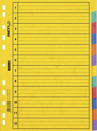 Fuente Declarantes Ringbuch registrar 12 piezas, caja de cartón prensado, blanco, amarillo...
