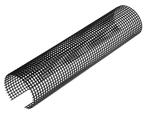 Laubschutzgitter Dachrinnenschutz 2m INEFA ® Schwarz NW100/125 = 100-125mm 1 St, Laubfanggitter für Dachrinnen Dachrinnensieb