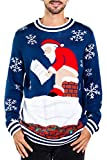 Tipsy Elves Men's Santa Pooping Ugly Christmas Sweater...