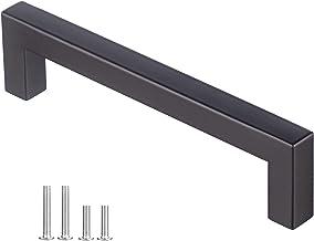 DEWUR 10 x 128 mm keukengreep boorgat geborsteld roestvrij staal meubelgrepen stanggreep railgreep roestvrij stalen buis Ø...