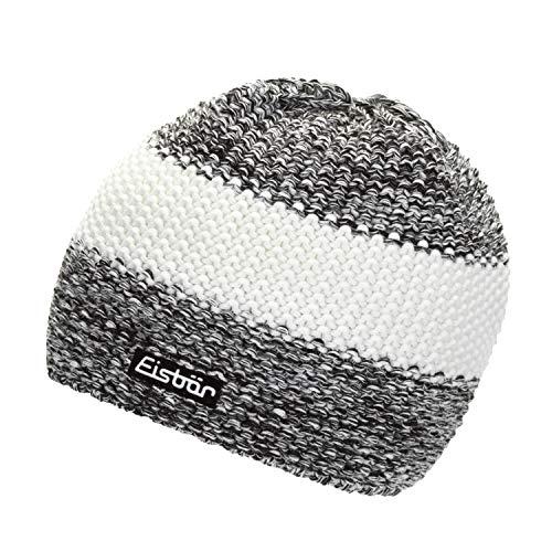 Eisbär Strickmütze Styler MÜ schwarz/weissmele/White