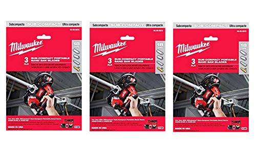 Milwaukee 48-39-0572 18 TPI Sub-Compact Portable Band Saw Blade, 3 Per Pack, 3 Pack