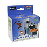 Suitable for the Aqua flow 100 filter Comprises two carbons and one filter foam Refill only Removes nitrate which helps prevent algae too For clearer water