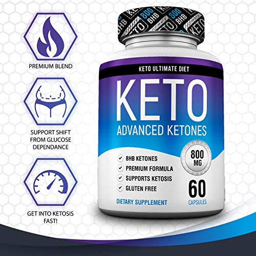 Keto Ultimate Diet - Ketogenic Diet Supplement with Beta Hydroxybutyrate Ketone Salts - Boost Energy and Metabolism - Keto Pills 60Caps 4