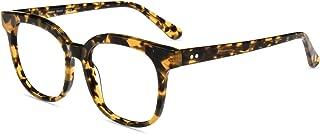 Firmoo Blue Light Blocking Glasses, Square Computer Glasses(Anti Eyestrain), Tortoise Shell Glasses for Men Women