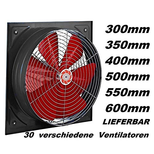Industriele 400 mm Axiaal ventilator wand of muur monteren afzugventilatoren raam- of muurmontage