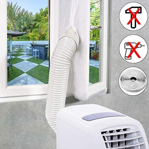 EXTSUD weiße Fensterabdichtung für Mobile Klimaanlage, Klimageräte, Abluft- und Wäschetrockner AirLock zum Anbringen an Fenster, Dachfenster, Flügelfenster, 4 Meter