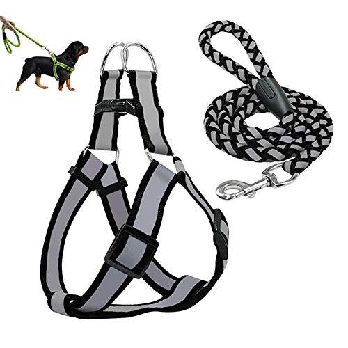 shuxuanltd Arnes Antitirones Perro Correas para Perros Collares y Cables para Perros medianos Arnés de Perro pequeño Arnés de Perro pequeño Ajustable Black,Large