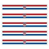 benobler 5 x Aufkleber Kroatien f. KFZ Auto Motorrad Boot Flagge Fahne Croatia