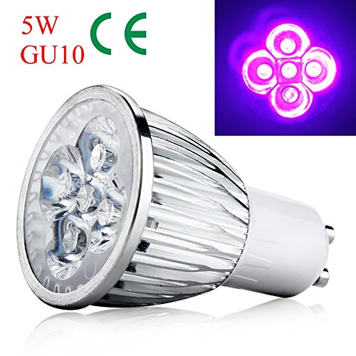 LED Ultraviolett Birne, 5W AC 85-265V GU10 UV LED Scheinwerfer