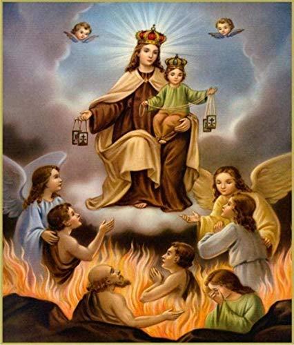 DGSJH Kits de pintura de diamante 5D mosaico Virgen María bebé arte religioso diamante de imitación dibujo imagen decoración cuentas bordado-40X50Cm