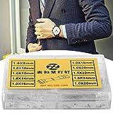Barra de resorte de metal de 1 mm 8 mm a 26 mm tamaños variados correa de reloj pasadores de eslabones para relojeros manualidades de relojero artesanía decoración de ropa accesorio