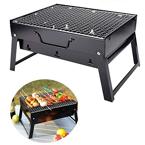 Desktop Grill Portable Folding Table Barbecue Grill,for Outdoor, Travel, Picnic, Camping, Garden Summer Party