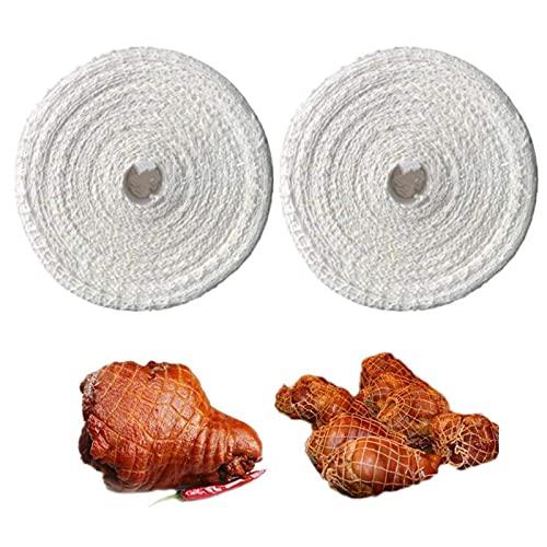Rete per Arrosti, Rete da Cucina per Carne, Rete di Carne, Rete da Cucina in Cotone, Accessori per Cottura e Cottura per Conservare, Appendere, Arrostire, Cuocere Carne e Prosciutto, 300 Cm, 2 Rotoli