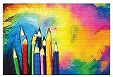 KAIASH 1000 Piezas de Rompecabezas para Adultos, lápices de Colores, niños, 3D, Juego de Rompecabezas de Madera, Juguetes interesantes, Regalo Personalizado, hogar, Familia, Juego de Rompecabezas