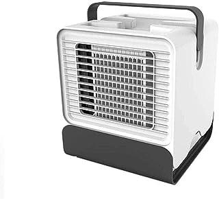 Arctic Cube Ultra portátil Mini aire acondicionado Enfriador evaporativo USB Mesa Ventilador Humidificador para el hogar Dormitorio Escritorio de oficina Mesita de noche Blanco y blanco-Blanco
