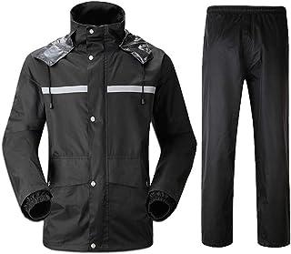 BGROESTWB Snow Rainwear Rain Suit Waterproof Jacket Trousers Set Rain Coat Visibility Multifunction Outdoor Cycling (Size ...