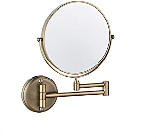 MXD Mirror Free Punching Bathroom Mirror Wall Mounted Mirror Bathroom Folding Double Sided Magnifier (Size : M)