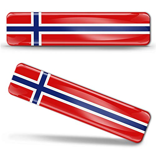 2 x sticker 3D gel silicone stickers Norway vlag Noorwegen vlag vlag vlag vlag autosticker F 15