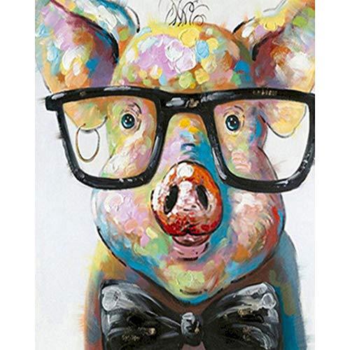 Conjunto de animales pintura por número sobre lienzo pintura acrílica Kit de bricolaje para adultos pintura y colorear decorar por número W16 40x50cm