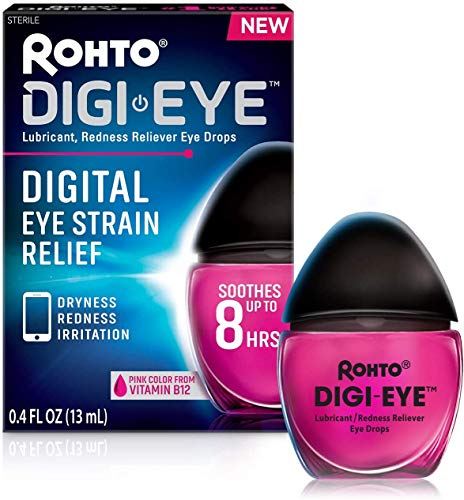 Rohto Digi-Eye Cooling Eye Drops for Digital Eye Strain, 0.4 Ounces (13 milliliters), 2 Count