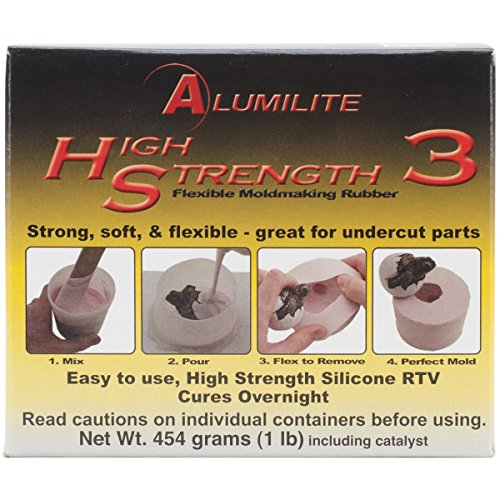 Crafter's Companion A20501 Amazing Casting Products Alumilite High Strength 3 Liquid Mold Making Rubber, 1-Pound, Pink