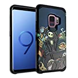 The Nightmare Before Christmas Galaxy S9 Case, IMAGITOUCH 2-Piece Style Armor Case with Flexible Shock Absorption Case Cover for Samsung Galaxy 9 – Nightmare Before Christmas Hybrid
