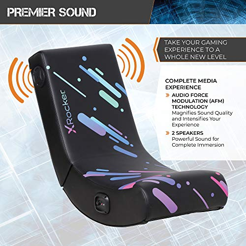 X Rocker, 5110201, Galaxy Floor Rocker 2.0 BT Printed PU, 33.46