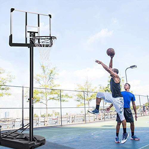 MaxKare Basketballkörbe Basketballständer 305 cm Einstellbar füllen Wasser Sand Basketballanlage Höhenverstellbar Tragbar Jugendlische Erwachsene Innen Freien zu Hause Indoor Outdoor