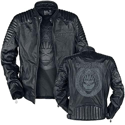 Iron Maiden Book Of Souls Crâne Homme Veste en cuir noir XL, 100% Cuir, Regular / Coupe standard