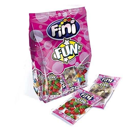 Fini Fun | Surtido Gominolas | Fresas, Ositos, Moras Y Coca Colas | Sin Gluten | 20 Bolsas - 18gr