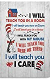 iWow Personalized Funny Teaching Saying Quote Decor Wall Art I Will Teach You Here Or There Meme Posters Print Birthday Gifts, Ideas On Xmas, Home Decor. (11'x17')